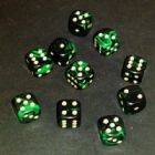 12mm Oblivion Spot Dice - Green